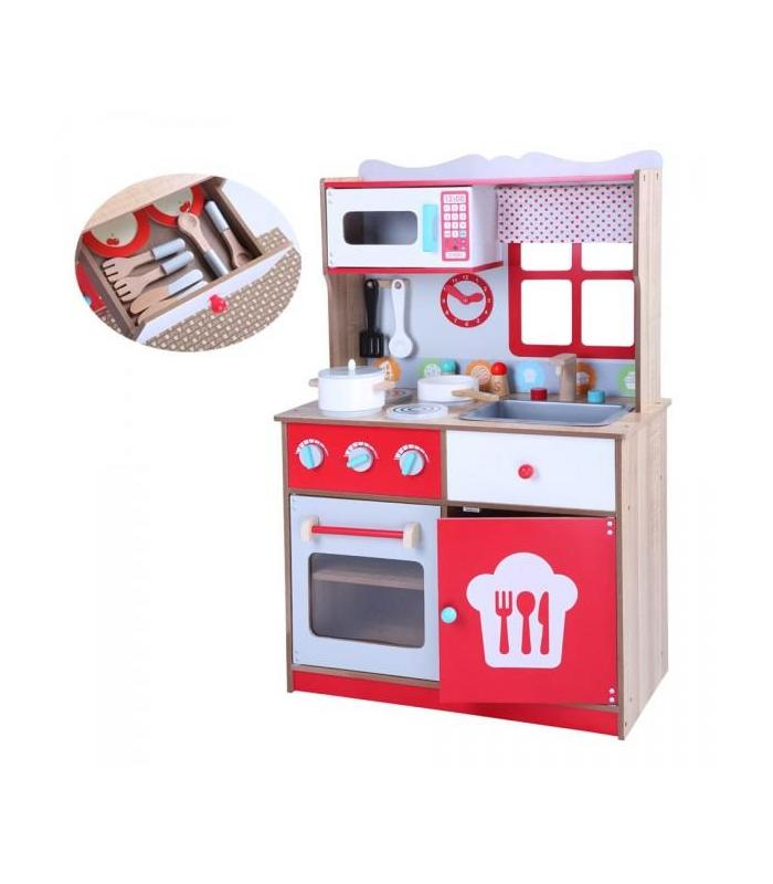 Wood Kitchen With An Oven And Microwave Toy Store Articles Created Handbook