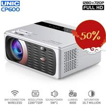 Unic Cp600 720p LED full HD Projector 4K 8000 Lumens Portable Cinema Proyector P