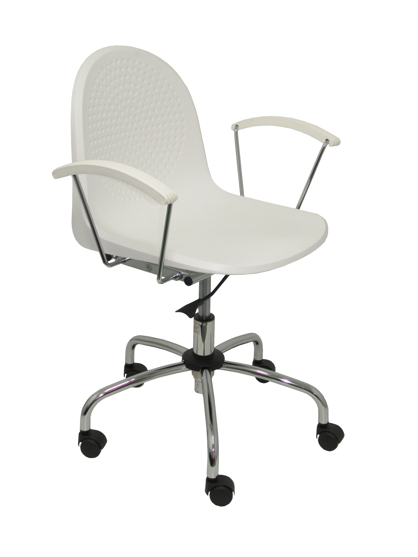 Chair's Office Desk Ergonomic With Arms Fixed, Dimmable In High Altitude And Rotating 360 ° Up Seat And Backstop Plastic