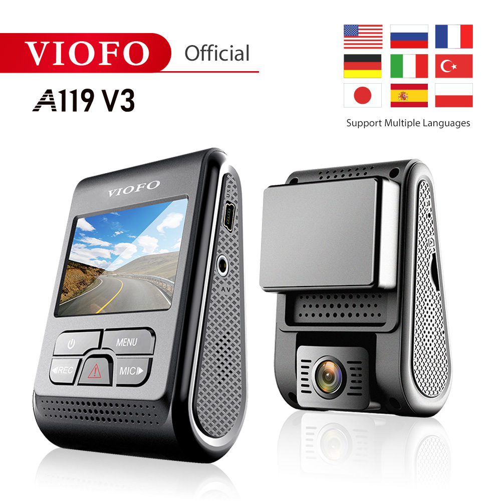 VIOFO Dash-Cam A119 V3 New-Product Night-Vision Car Super 30 GPS 30fps-Optional 2560--1600p