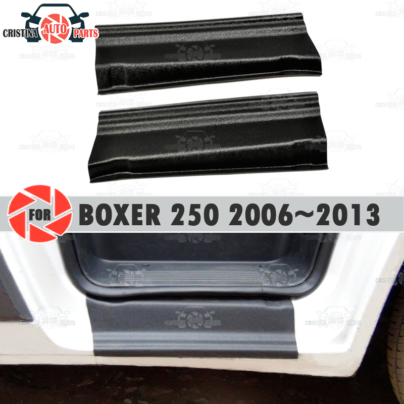 Dorpels Voor Peugeot Boxer 250 2006 ~ 2013 Plastic Abs Stap Plaat Inner Trim Accessoires Bescherming Scuff Auto Styling decoratie