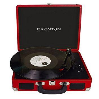 Record Player BRIGMTON BTC-404 2 x 1W Red