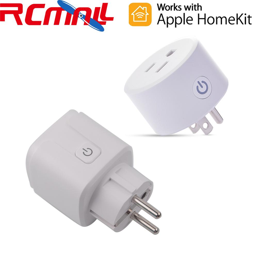 For HomeKit Smart Plug Wifi Socket Outlet Switch EU/US Works With Apple Home APP Alexa/Google Assistant Timer 2.4Ghz Dohome