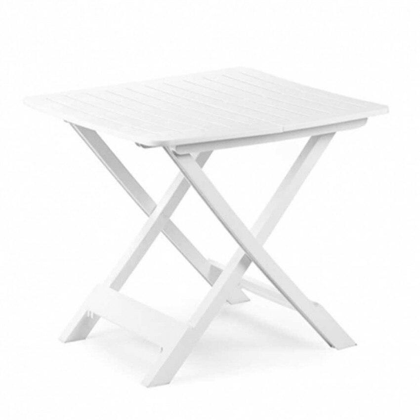 Resin Table Tevere Folding White 79x72x70cm Landscraft.com