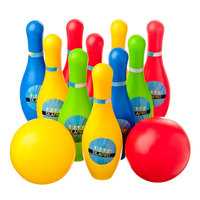 BOWLING GAME KIT, 12 ITEMS, KEYS 16, 5 CM, BALL D 5 CM, PLASTIC,