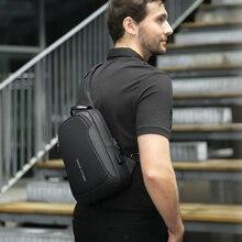 마크 Ryden 다기능 Crossbody 남자 가방 방수 USB 충전 슬링 팩 짧은 여행 메신저 어깨 가방 남성