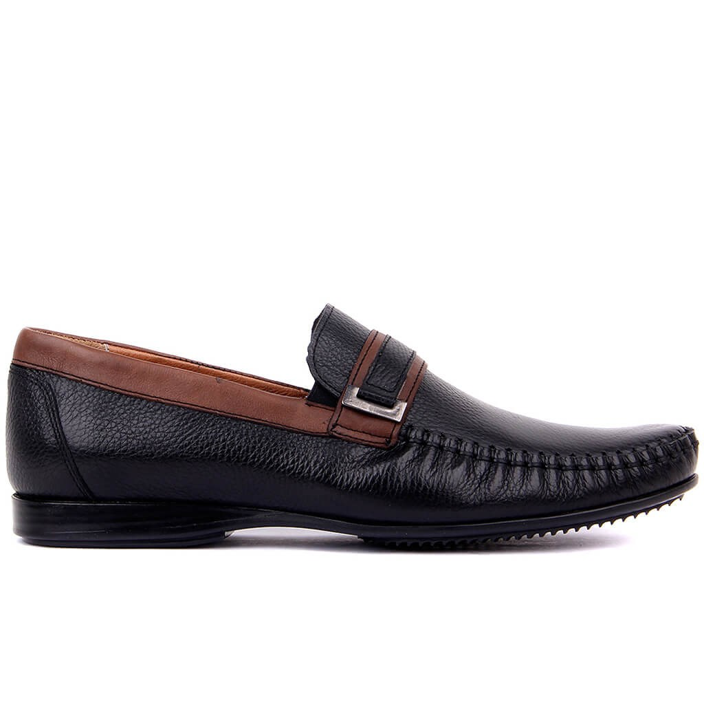 Sail Lakers-Genuine Leather Men Daily Casual Shoes