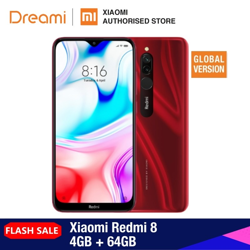 Global Version Redmi 8 64GB ROM 4GB RAM (Brand New And Official) Redmi8 64gb Redmi864 Smartphone Mobile
