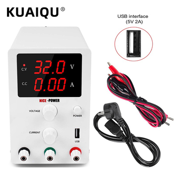 KUAIQU New USB Adjustable DC Laboratory Power Supply 30v 10a Digits Display Mini Voltage Regulator 60V 5A For Phone Repair image