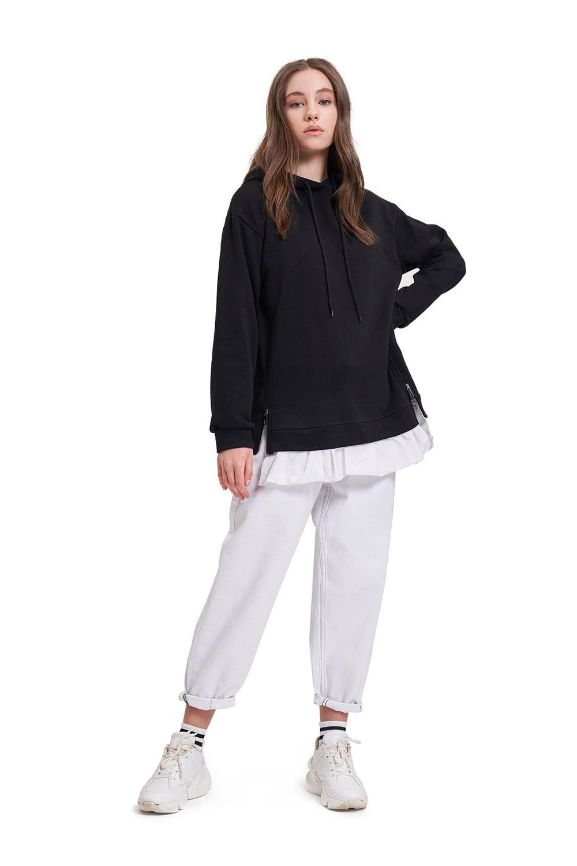 Ruffle Detailed Sweatshirt