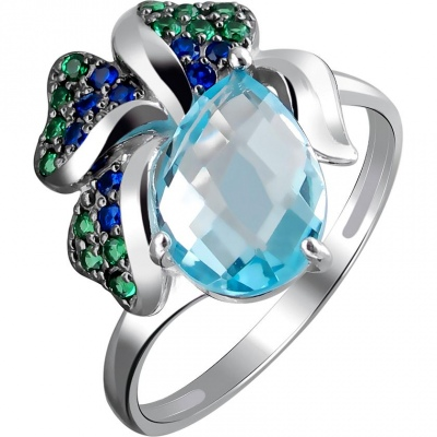 Jewelry Tradition Ring With Topaz And Cubic Zirconia