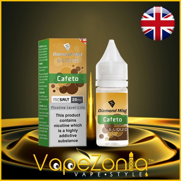Diamond Mist E Liquid Nic Salt CAFETO 20 Mg 10 Ml