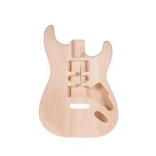 Muslady ST01-DT незавершенная электрогитара ручной работы DIY корпус гитары липа баррель Замена гитарных аксессуаров