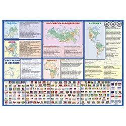 Carte du monde politique, laminé, tablette