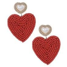 Zhini новые bohomia массивные серьги в виде сердца для женщин