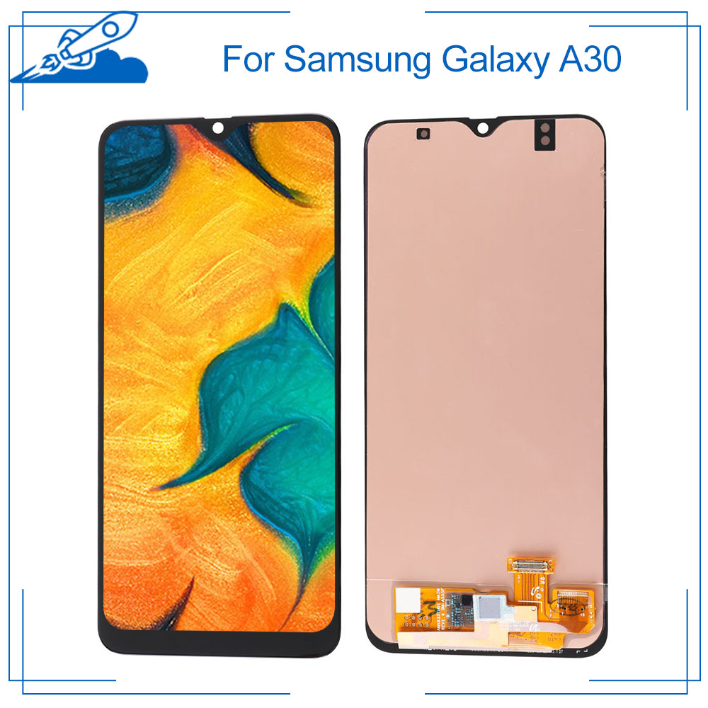 100% OEM AMOLED For <font><b>Samsung</b></font> <font><b>Galaxy</b></font> <font><b>A30</b></font> A30s <font><b>LCD</b></font> Touch Screen amoled Display Digitize Assembly Replacement Frame NO Dead Pixel image