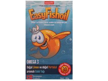 EasyFishoil o smaku pomarańczowym 30 tabletek truskawkowych tanie i dobre opinie Mężczyzna 12 + y DE (pochodzenie)