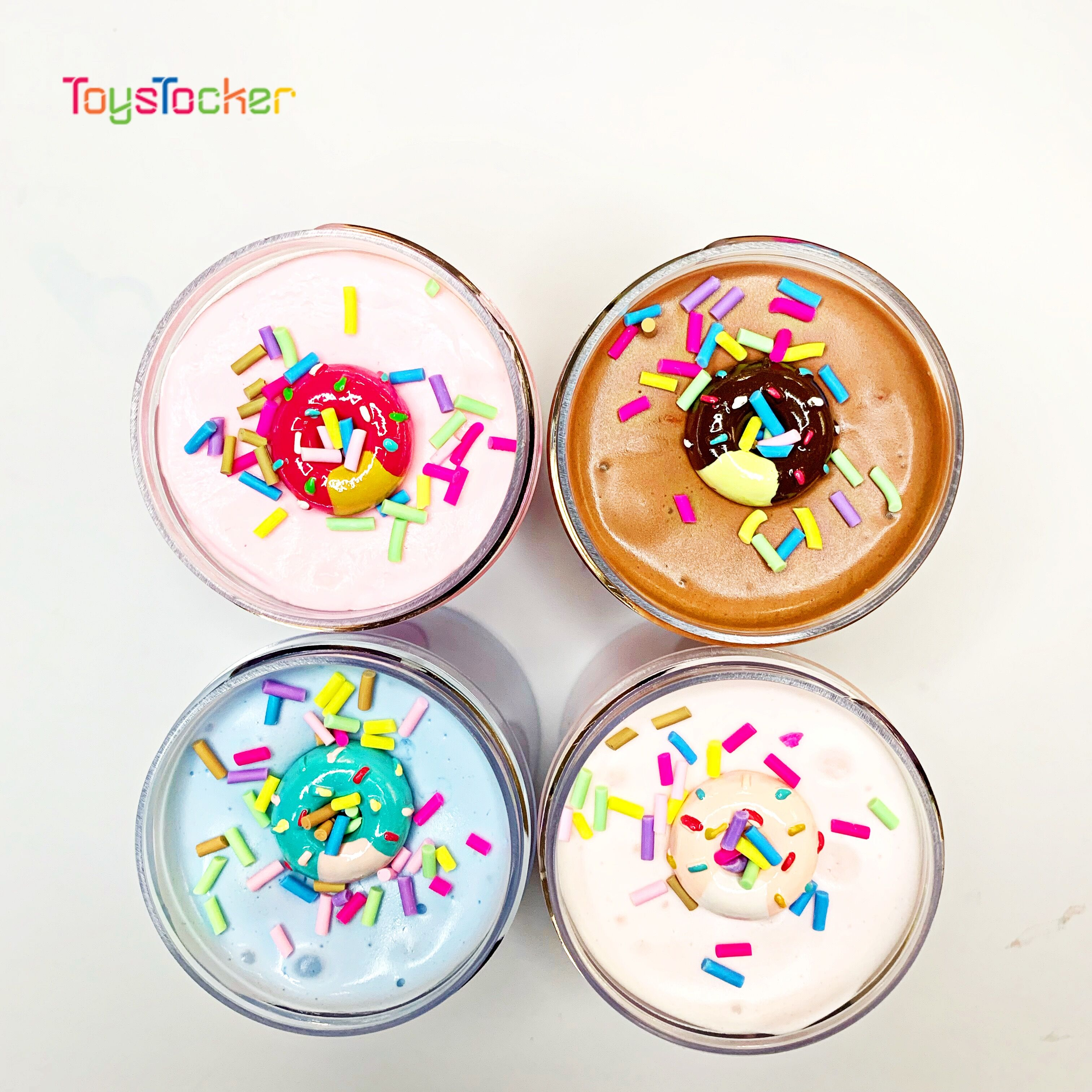 High-Quality Non-Toxic Butter Slime Clay Resin Donut Charm Slime, Stress Relief Toy For Children Gift