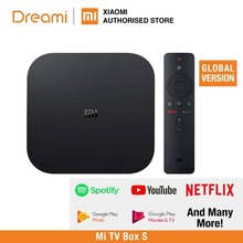 (EU VERSION) Mi TV Box S (Marke Neue, smart android tv Box 4K HDR Android 8,1 2G 8G WIFI, Google Cast Netflix)