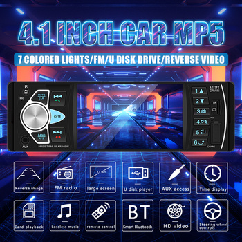 Vehemo Auto radio 4022D 4.1inch Car Radio Audio Stereo USB AUX FM Audio Player Radio Station With Remote Control Car Audio image