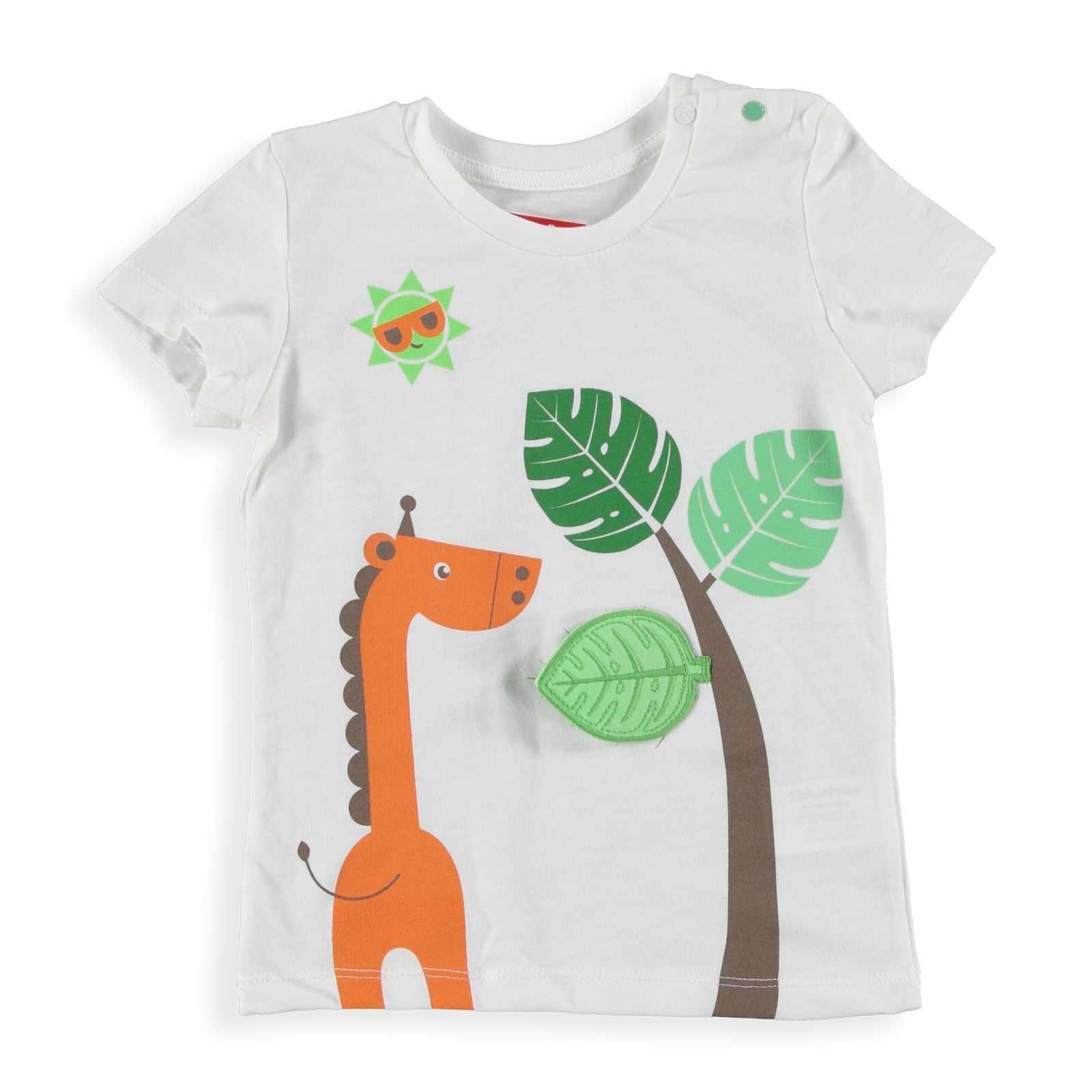 Ebebek פישר מחיר יער תינוק ילד מודפס חולצת טי