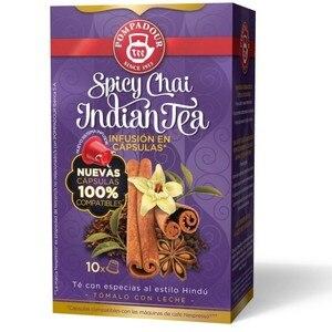 SPICY CHAI INDIAN TEA 10 compatible Pompadour capsules Nespresso
