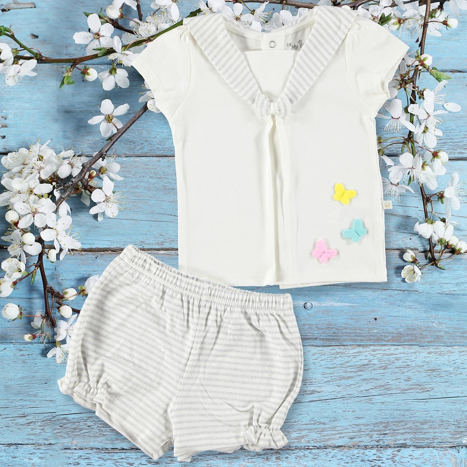 Ebebek For My Baby Girl Mariposa Shirt Short Set