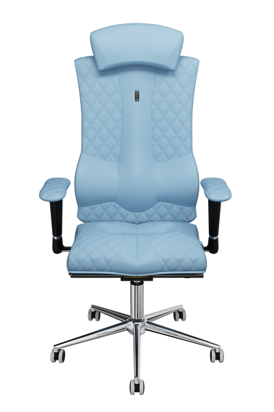 Office Chair KULIK SYSTEM ELEGANCE Light Blue Computer Chair Relief And Comfort For The Back 5 Zones Control Spine