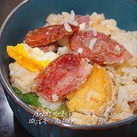 年味菜—鲍鱼香肠煲仔饭的做法图解8