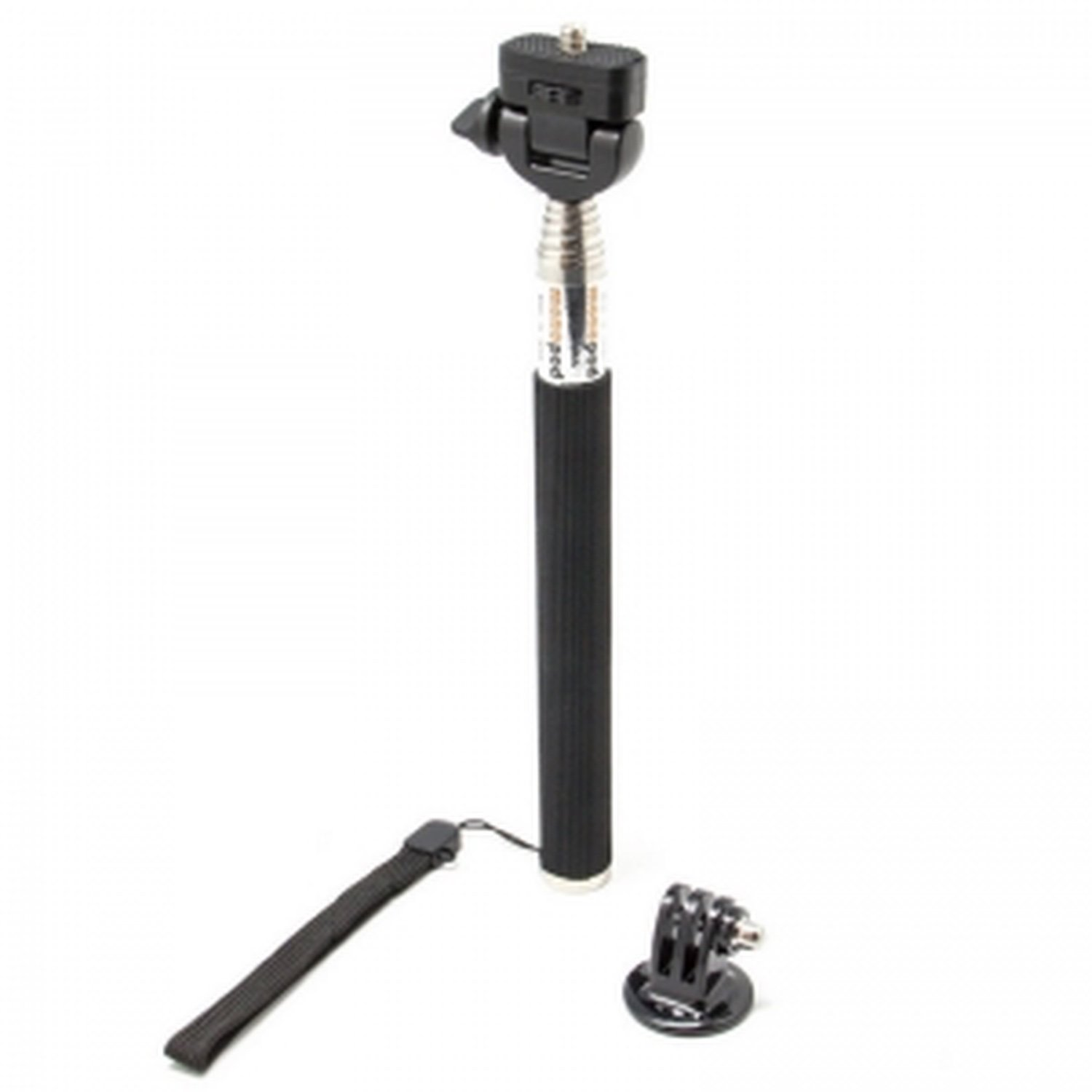 Extendable Telescopic Handheld Pole Arm Monopod Black with Tripod Adapter for Gopro HD Hero 4/3/2/ 1 m20 bike handlebar seatpost pole mount holder for gopro hero 2 3 3 4 black