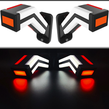 2 LED pilots NEON GALIBOS rear side horns 3 colors red white amber for trailer 12V and 24V approved