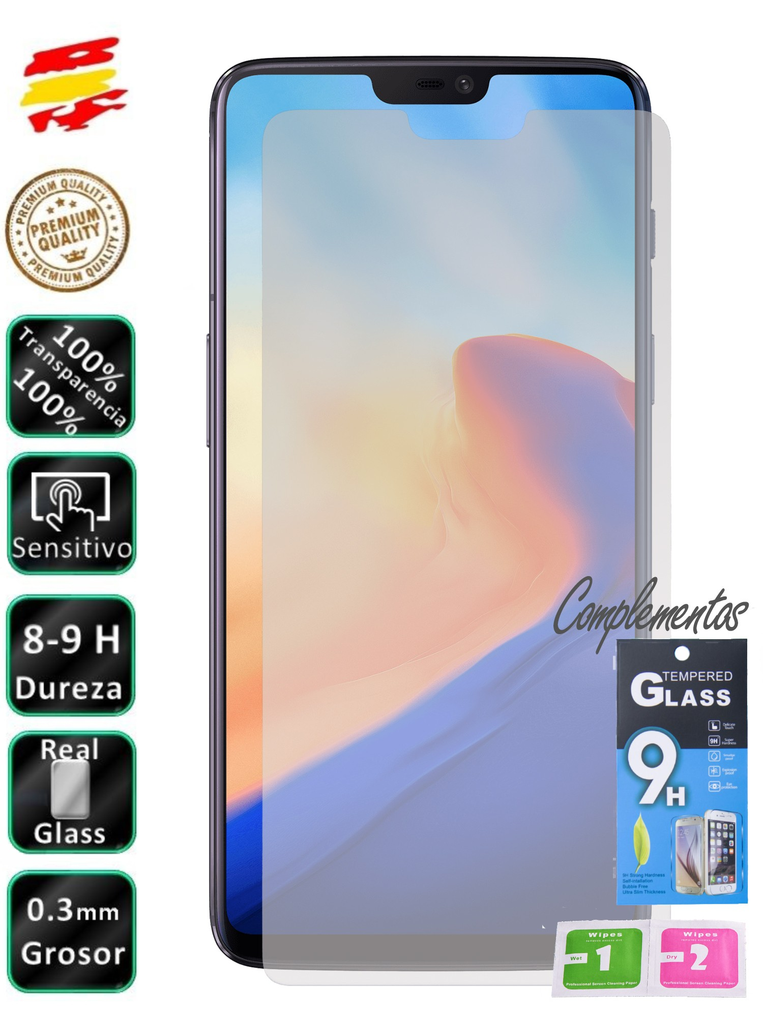 Protector For OnePlus 6 4G Glass Screen Tempered Glass 9H For Mobile