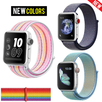 Band For Apple Watch Series 3/2/1 38MM 40MM Nylon Soft Breathable Replacement Strap Sport Loop For Iwatch Series 4 5 42MM 44MM