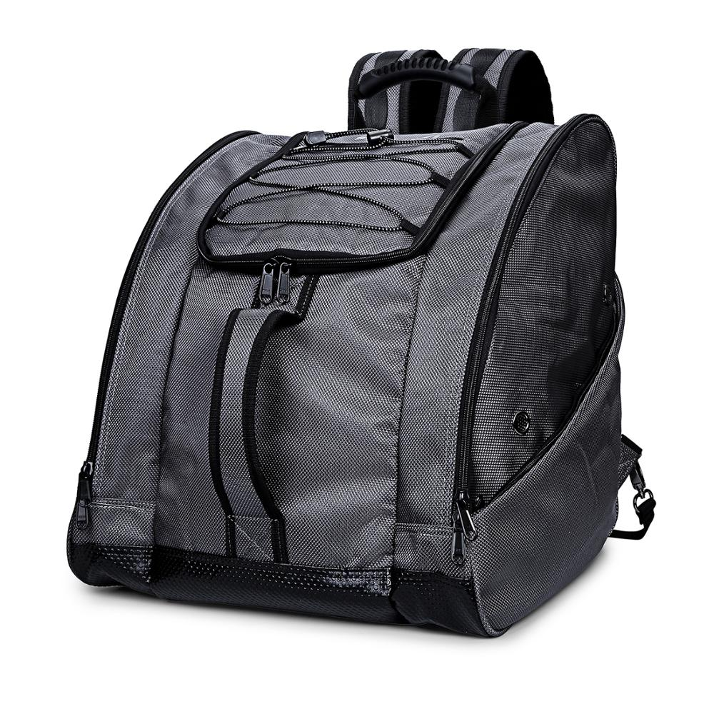 Capacity Ski Bag Large Suitable For Ski Shoes Helmets And Snowboard Boots Waterproof And Beautiful Suitable For Travel Gray