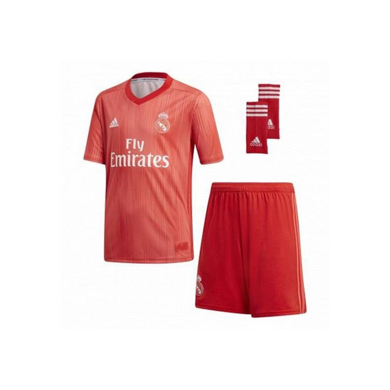 Set Football Kit For Children Adidas Real Madrid Red 18/19 (3rd) (3 Pcs)