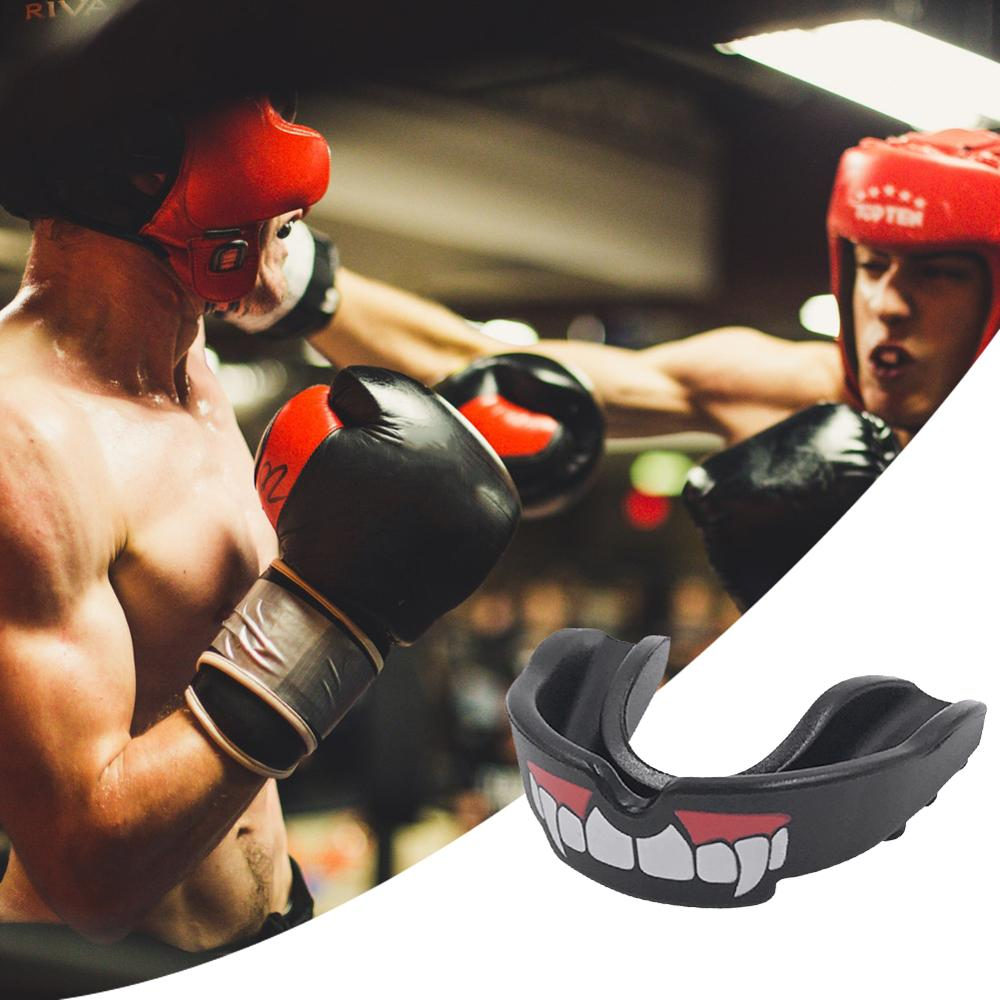 Sports Boxing Silicone Mouth Guard Shield Case Grinding Teeth  Protection Braces