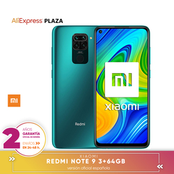 [Oficjalna wersja hiszpańska gwarancja] Xiaomi Note 9 Smartphone FHD screen + 6.53