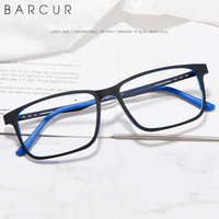 BARCUR TR-90 Titanium Optical Eyeglasses Frame for Men Light Weight Frame Women Eyewear With Flexible Temples Prescription