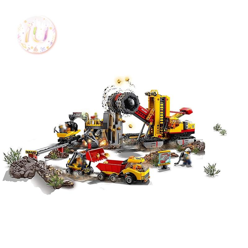 BELA 10876 City Series The Mining Experts Site Set blocs de construction Compatible 60188 cadeaux jouets éducatifs pour enfants 919 pièces