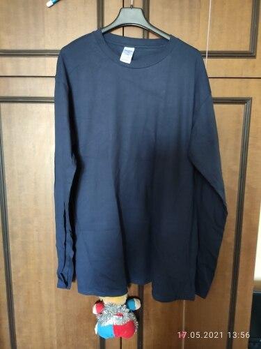 2Pcs 100% Cotton Long Sleeve Men T-Shirt photo review