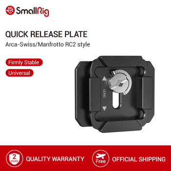 SmallRig Quick Release Plate For Arca-Swiss and Manfrotto RC2 Style Baseplate Mount To Tripod Video Shooting Accessories- 2364 sirui va 5 fluid video head with arca swiss compatible quick release plate