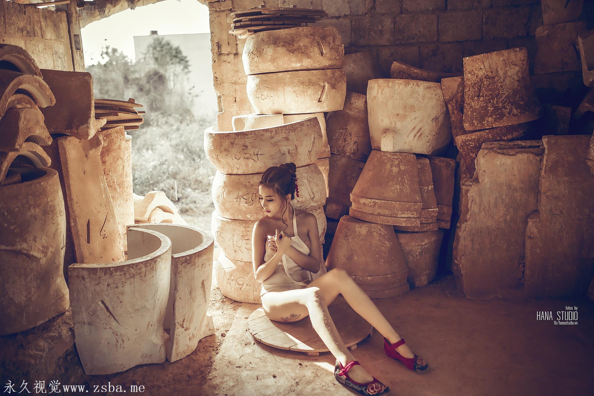 越南名模-陶瓷写真