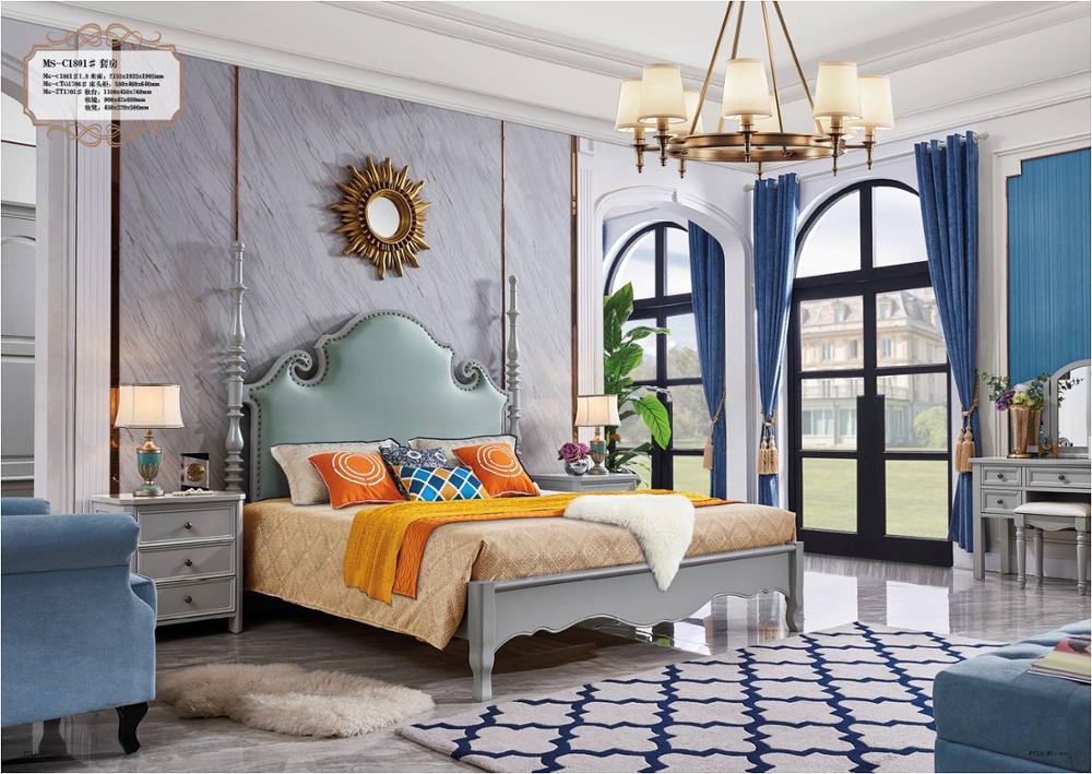 US $890.0  2019 Vendita Calda Stile Moderno Camera Da Letto Mobili King  Size Letto In Legno-in Set per camera da letto da Mobili su AliExpress