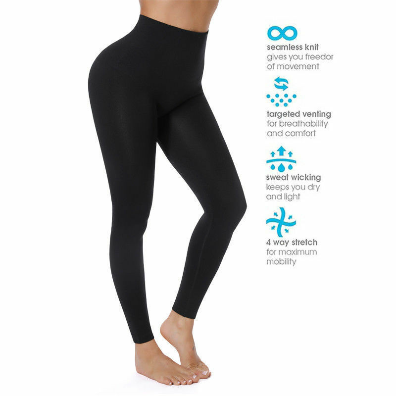 Black Elastic Seamless Leggings Women Fitness Push Up Plus Size S-5XL Workout Spandex High Waist Female Sexy Jeggings