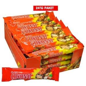 Hazelnut Coated Chocolate Wafers Ulker Cokonat 24 PC
