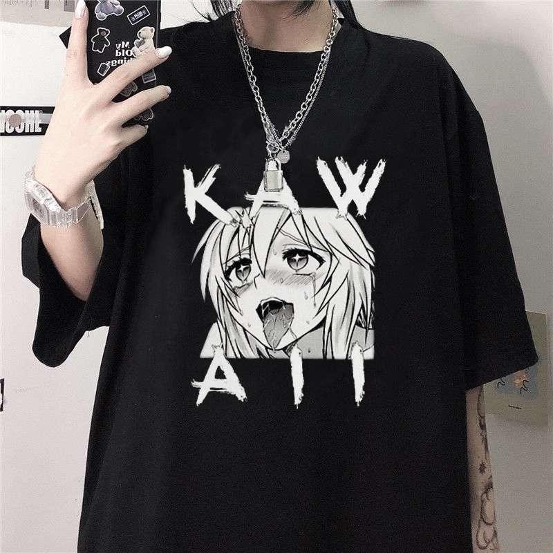 Kawaii Anime 2021 Summer Harajuku Fashion Men Women T Shirt Funny Print Harajuku O-Neck Top Tees Streetwear Casual Men'S Tshirts photo review
