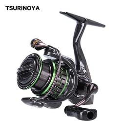 TSURINOYA Carbon Spinning Fishing Reel Kingfisher 800 1000 1500 1500s Ultralight Weight 162g 10+1BB Micro Lure Stream Trout Reel