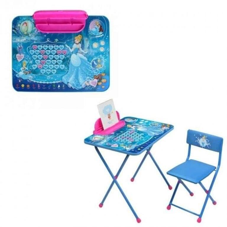 К-т Disney2 ЗОЛУШКА стол скл с пеналом+стул мягк Д2ЗЛ