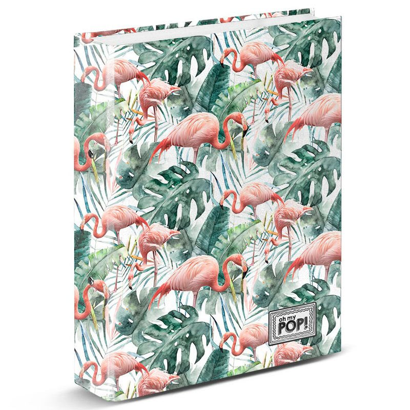 A4 Folder Ooh My Pop Tropical Flamingo Rings
