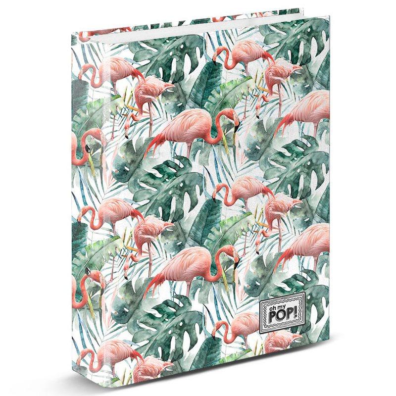 A4 Folder Ooh My Pop Tropical Flamingo Rings